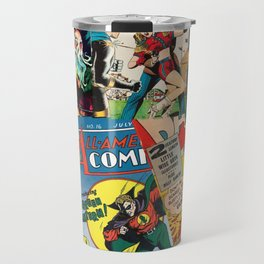 Comics Collage Travel Mug