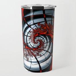 Fractal Art - Burning Web Travel Mug