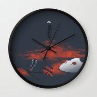 tokyo ghoul Wall Clocks featuring Tokyo Ghoul - 993 by Chris Lejman