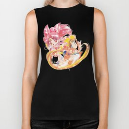 Super Sailor Moon & Chibi Moon (edit 2/B) Biker Tank