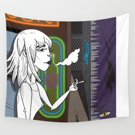 Smoke Queen in the City Wall Tapestry