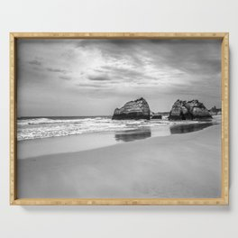 Stone beach Praia da Rocha Serving Tray