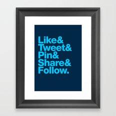 The Social Type Framed Art Print