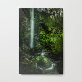 Mallyan in Green Metal Print