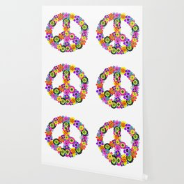 Peace Sign of Flowers Wallpaper