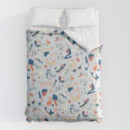 Shoe Craze Pale Blue Comforters