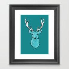 The Wild Spring Stag - Animal print Framed Art Print