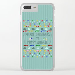 Filthy Animal Christmas Sweater Clear iPhone Case