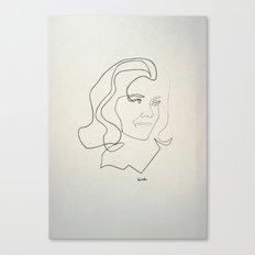 One line Avengers: Emma Peel Canvas Print