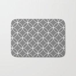 Crossing Circles - Elephant Gray Bath Mat