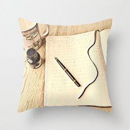 Journal Time Throw Pillow
