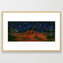Uluru by Night Framed Art Print