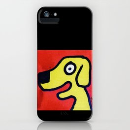 Dog on Red iPhone Case