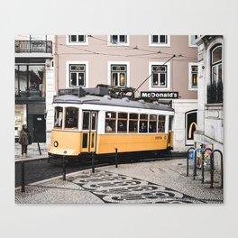 Yellow Tram 2.0 Canvas Print