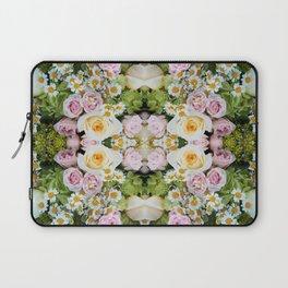 Bird Peeking On The Roses (Mandala #124b) Laptop Sleeve