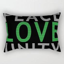 Peace Love & Unity Rectangular Pillow