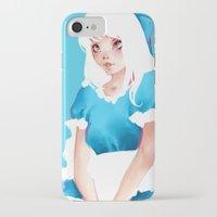 alice wonderland iPhone & iPod Cases featuring Wonderland by Muzhur n' Leaevra