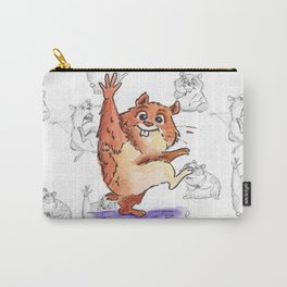 Hamster with Sketch Background Carry-All Pouch