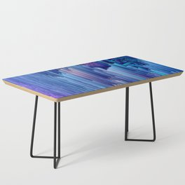 Beglitched Waterfall - Abstract Pixel Art Coffee Table