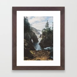 Misty Oregon Coast Framed Art Print