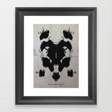 Rorscharch Framed Art Print