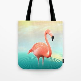 Sunset Flamingo Tote Bag