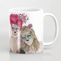 dia de los muertos Mugs featuring Dia de los muertos by alicetischer