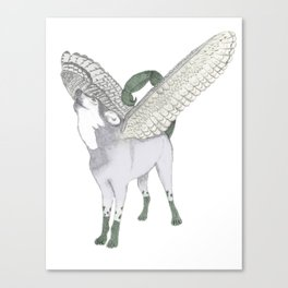 Zodiacal Chimera: The wolf Canvas Print