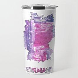 Germany map outline African violet watercolor Travel Mug