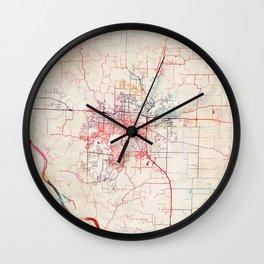 Columbia map Missouri painting Wall Clock