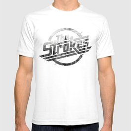 The Strokes Logo New York Black And White T-shirt