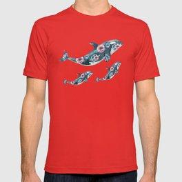 Rose Garden Whales T-shirt