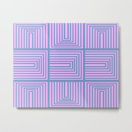 Lines in Pink and Blue 106 Metal Print