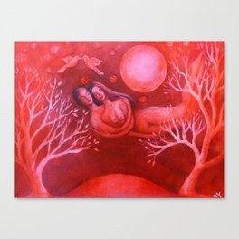 Lovers in a Red Sky Canvas Print