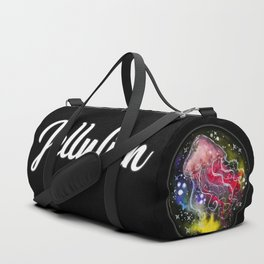 Watercolor Galaxy Jellyfish Duffle Bag