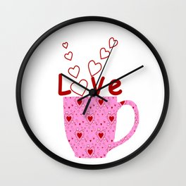 Cup Of Love Wall Clock