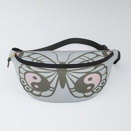 Yin Yang Zen Butterfly Fanny Pack