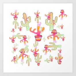 Cactus Family Day Art Print