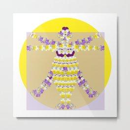 Woman of Violets Metal Print