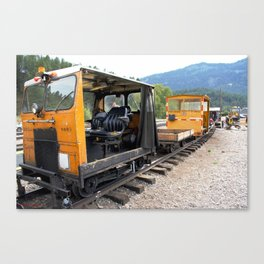 At the Rockwood Depot of the Durango & Silverton NG Railroad Canvas Print