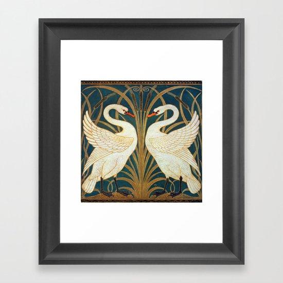 Walter Crane Swan, Rush And Iris by artgallery