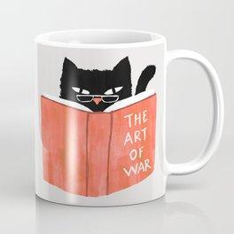 Cat reading book Coffee Mug
