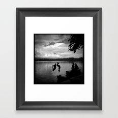 Twenty-Peso Backflips Framed Art Print