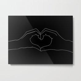 cœur Metal Print
