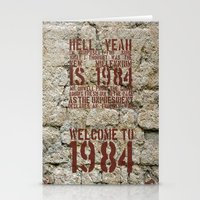 1984 Stationery Cards featuring Welcome To 1984 by Catherine Doolan