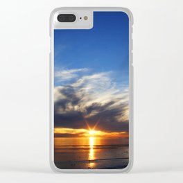 Center Sun Clear iPhone Case