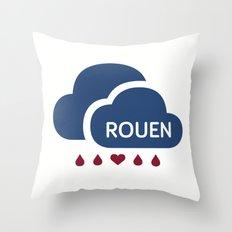 Rainy Rouen (2) Throw Pillow