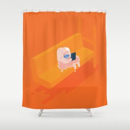 Globzilla! Shower Curtain
