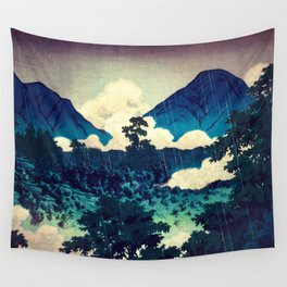 Under the Rain in Doyi Wall Tapestry