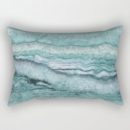 Mystic Stone Aqua Teal Rectangular Pillow